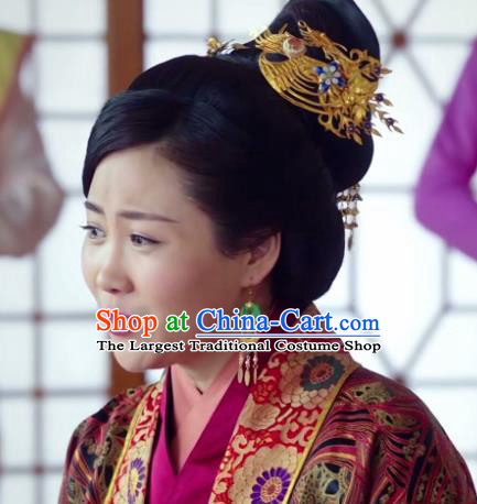 Chinese Ancient Imperial Consort Hair Accessories Phoenix Coronet Hairpins for Women