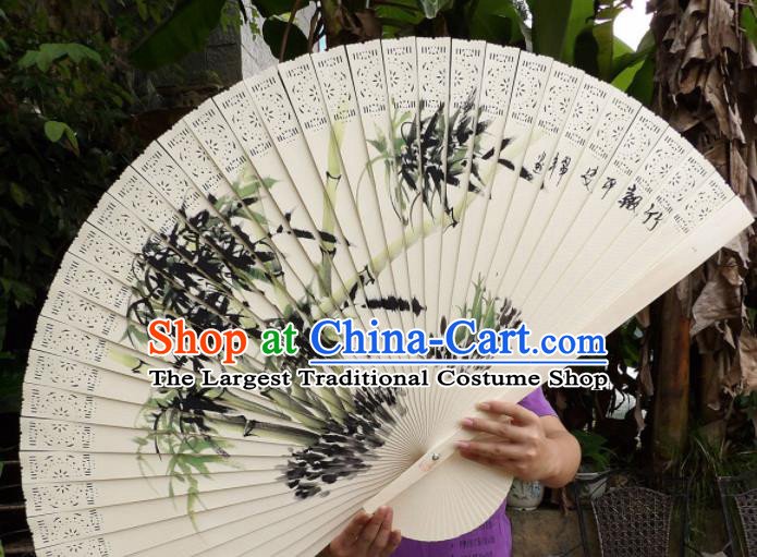 Chinese Traditional Fans Decoration Crafts Painting Bamboo Folding Fans Wood Fans