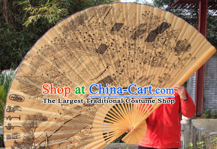 Chinese Traditional Handmade Silk Fans Decoration Crafts Ink Painting Folding Fans