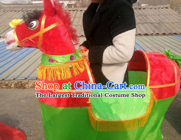 Chinese Traditional Folk Dance Yanko Dance Props Red Donkey Land Boat