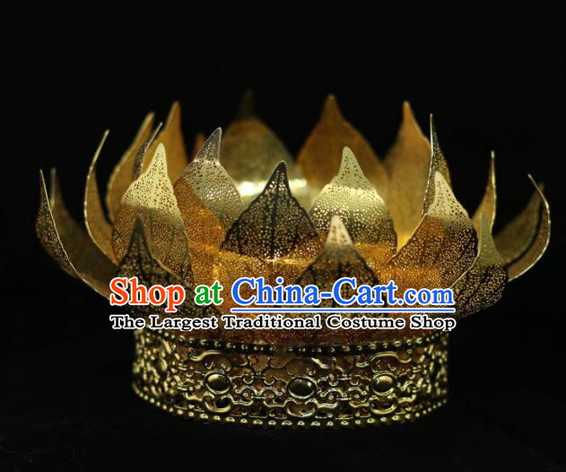 Chinese Traditional Handmade Hair Accessories Ancient Lotus Hair Crown Hairpins for Women