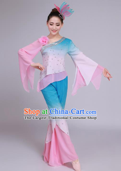 Chinese Traditional Classical Dance Costumes Folk Dance Yangko Dance Clothing for Women