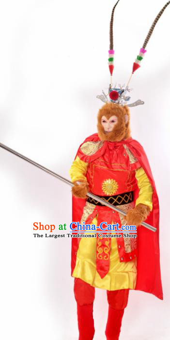 Chinese Beijing Opera Monkey King Costumes Traditional Handsome Monkey King Clothing for Men