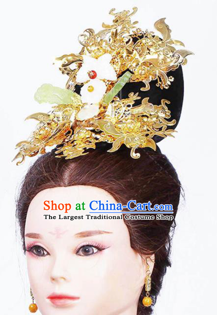 Chinese Traditional Handmade Phoenix Coronet Hair Accessories Ancient Queen Hairpins Complete Set for Women
