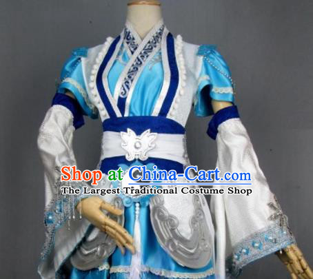 Asian Chinese Cosplay Taoist Nun Costumes Ancient Swordswoman Dress Clothing for Women