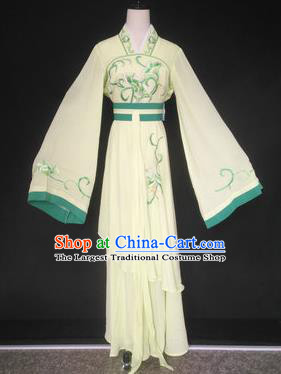 Chinese Traditional Peking Opera Las Meninas Yellow Costumes Ancient Beijing Opera Diva Clothing for Adults