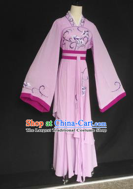 Chinese Traditional Peking Opera Las Meninas Lilac Costumes Ancient Beijing Opera Diva Clothing for Adults