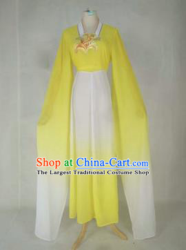 Chinese Traditional Peking Opera Court Maid Costumes Ancient Beijing Opera Diva Yellow Dress for Adults