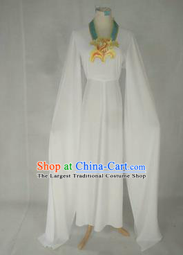 Chinese Traditional Peking Opera Court Maid Costumes Ancient Beijing Opera Diva White Dress for Adults