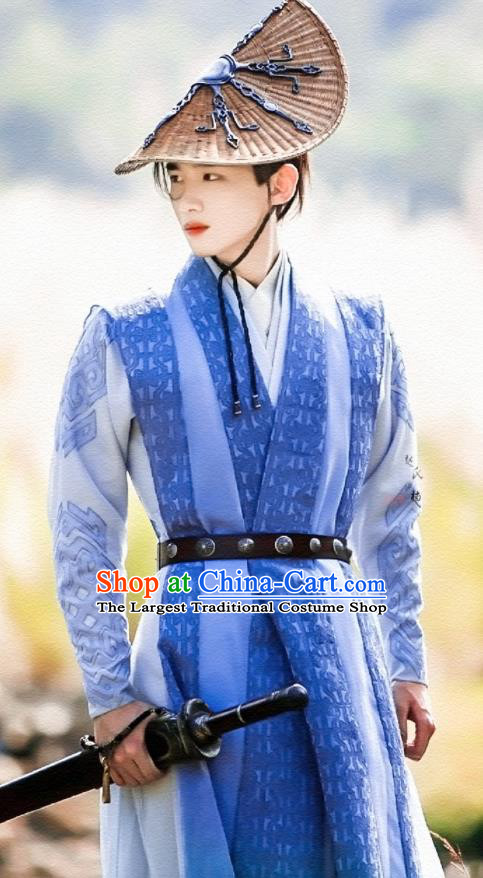 Asian Chinese Ancient Swordsman Costumes The Rise of Phoenixes Knight Clothing for Men