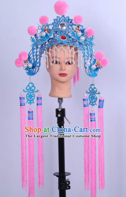 Chinese Traditional Peking Opera Court Maid Hat Ancient Palace Lady Helmet for Adults