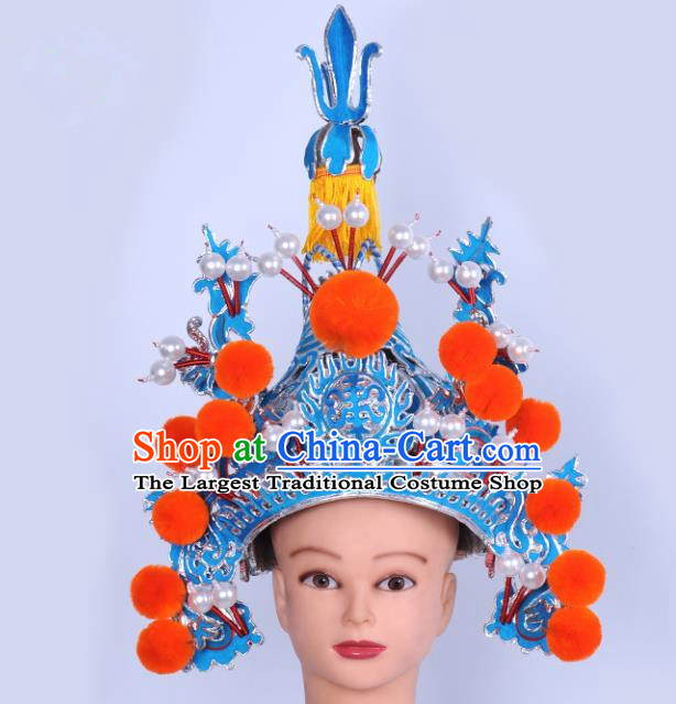 Chinese Traditional Peking Opera Marshal Hat Ancient General Helmet for Adults