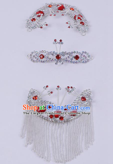 Chinese Traditional Peking Opera Actress Hair Accessories Ancient Fairy Hairpins Complete Set for Women