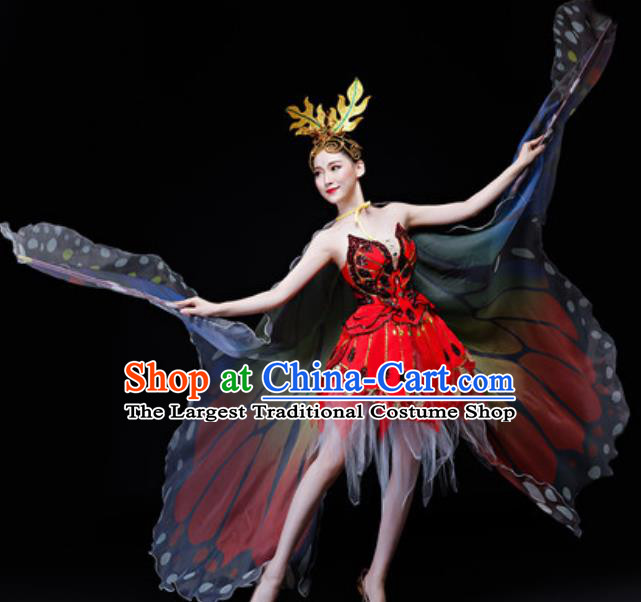 Professional Opening Dance Costume Stage Performance Butterfly Dance Dress for Women