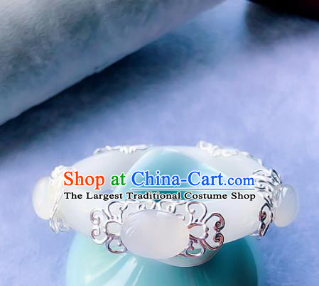 Top Grade Chinese Handmade Jewelry Accessories Jade Bracelet Traditional Bangle for Women