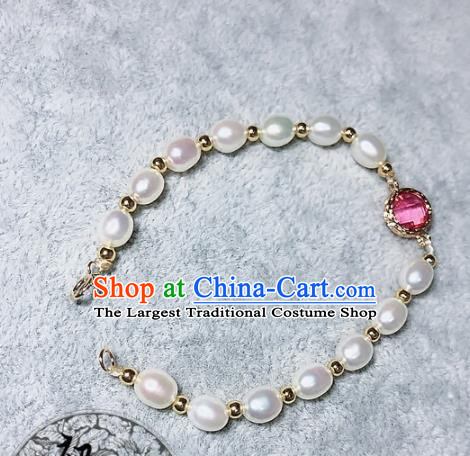 Top Grade Chinese Handmade Jewelry Accessories Pearls Bracelet Traditional Bangle for Women