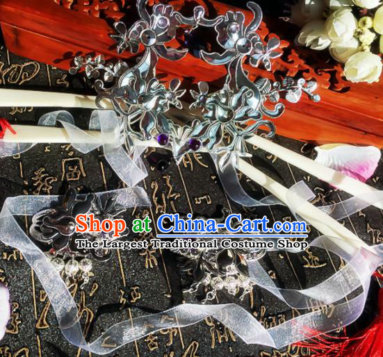 Chinese Handmade Ancient Palace Princess Hair Accessories Hanfu Hairpins Tassel Hair Sticks for Women