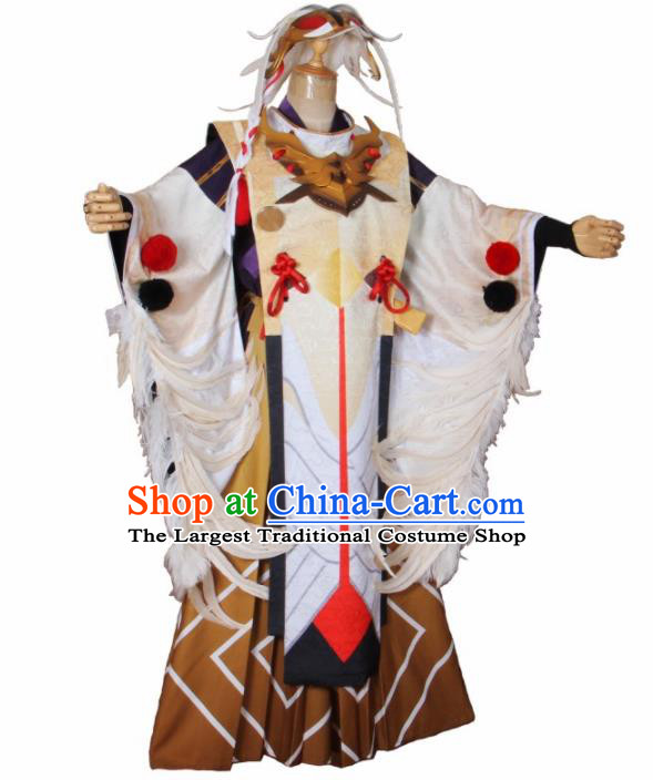 Asian Japanese Traditional Swordsman Costumes Ancient Cosplay Onmyoji Clothing for Men
