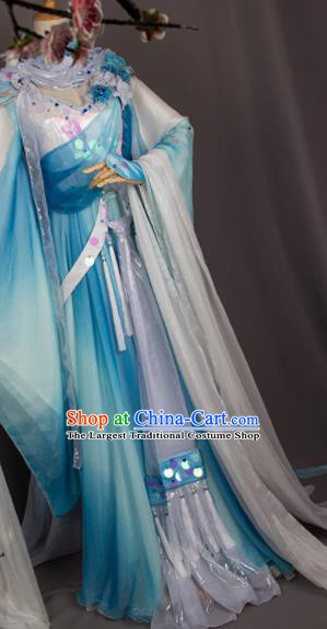 Chinese Traditional Cosplay Swordswoman Costumes Ancient Peri Hanfu Dress for Women