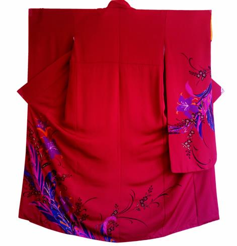 Japanese Traditional Courtesan Furisode Kimono Costumes Ancient Cosplay Yukata Clothing for Women