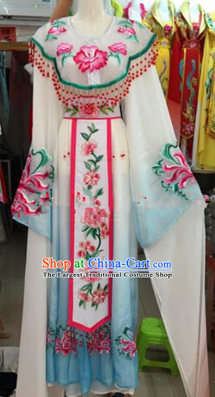 Chinese Traditional Beijing Opera Palace Princess Dress Ancient Peri Embroidered Costumes for Rich