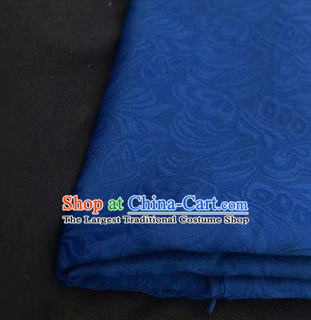 Chinese Royal Blue Brocade Palace Style Traditional Pattern Design Silk Fabric Chinese Fabric Asian Material