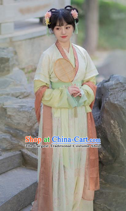 Chinese Ancient Tang Dynasty Nobility Lady Replica Costumes Traditional Palace Lady Hanfu Dress for Rich