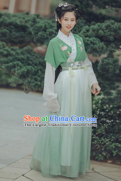 Chinese Ancient Ming Dynasty Nobility Lady Hanfu Dress Traditional Embroidered Costumes for Women