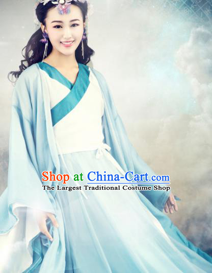 Chinese Ancient Goddess Hanfu Dress Traditional Tang Dynasty Swordswoman Costumes for Women