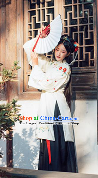 Chinese Ming Dynasty Nobility Lady Hanfu Dress Traditional Ancient Princess Embroidered Costumes for Women