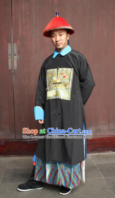 Chinese Traditional Ancient Qing Dynasty Court Minister Embroidered Costume for Men