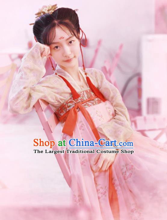 Chinese Tang Dynasty Princess Replica Costumes Traditional Ancient Royal Court Lady Hanfu Dress for Women
