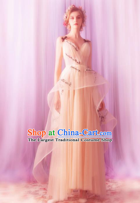 Top Grade Compere Formal Dress Handmade Catwalks Angel Veil Full Dress for Women