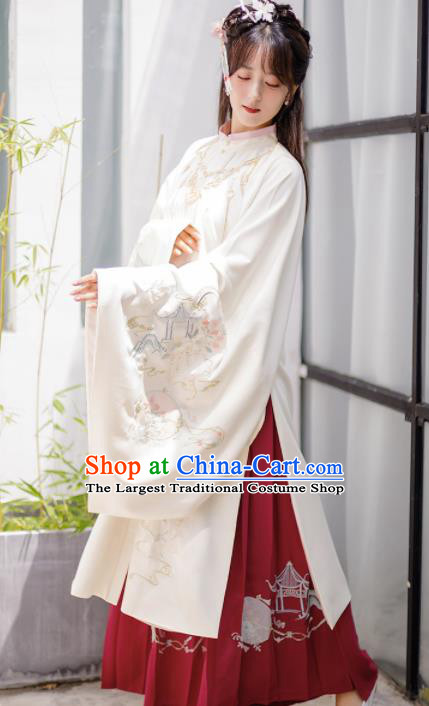 Chinese Traditional Ming Dynasty Princess Clothing Ancient Nobility Lady Embroidered Costumes for Women