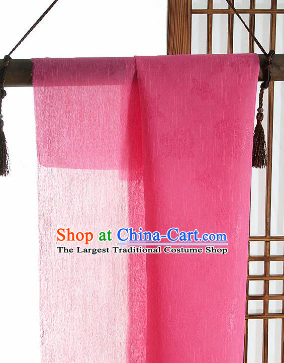Asian Korean Traditional Water Red Tough Silk Fabric Hanbok Silk Material