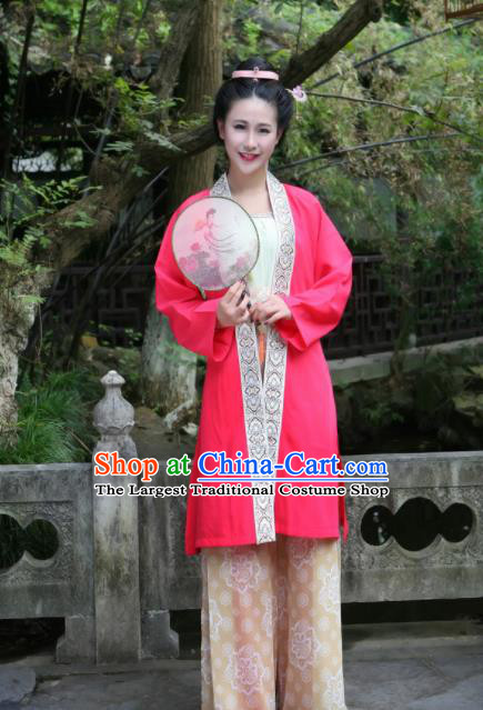 Traditional Chinese Ancient Song Dynasty Nobility Lady Embroidered Historical Costumes Complete Set for Women