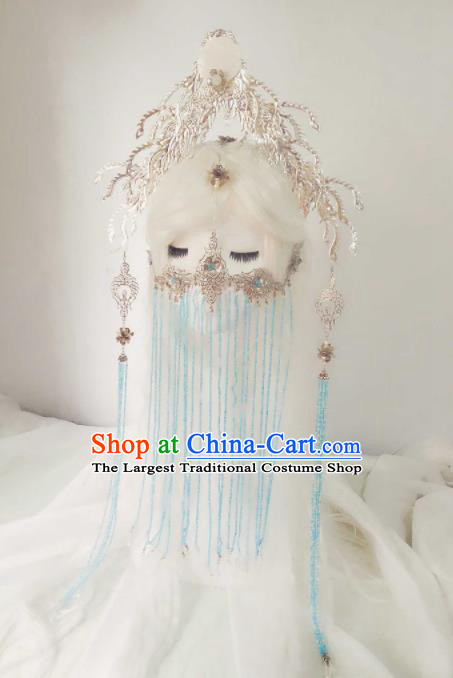 Chinese Ancient Handmade Hair Accessories Princess Phoenix Coronet Hairpins Headwear for Women