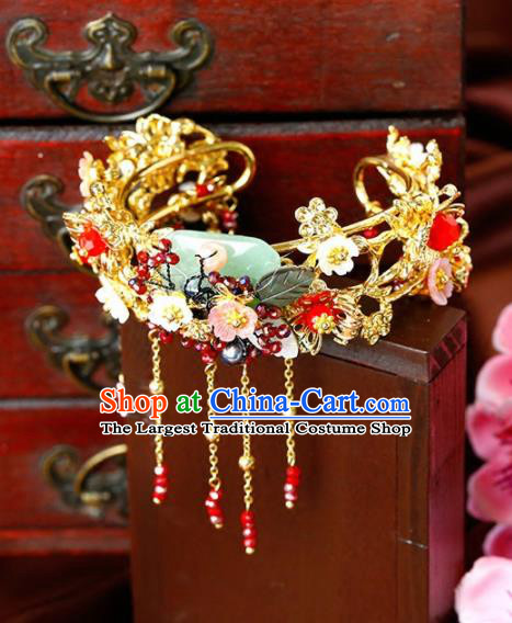 Chinese Ancient Handmade Bracelet Wedding Jewelry Accessories Jade Bangle for Women