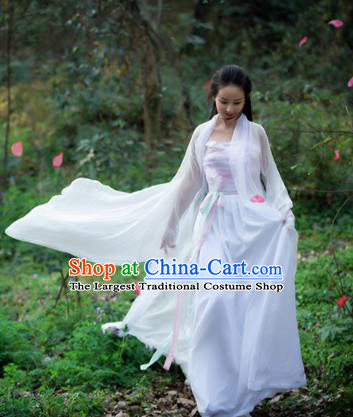 Asian Chinese Ancient Fairy Costumes Traditional Princess Hanfu Dress for Women