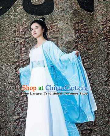 Chinese Ancient Swordswoman Costumes Traditional Female Knight Peri Hanfu Dress for Women