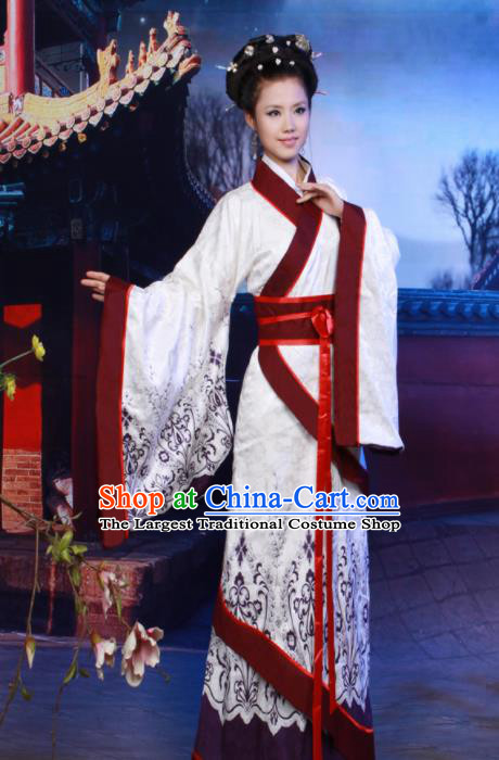 Chinese Ancient Costumes Traditional Han Dynasty Imperial Concubine Hanfu Dress for Women