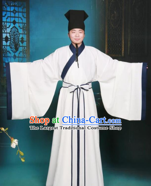Ancient Chinese Scholar Costumes Traditional Song Dynasty Confucianscholar Hanfu Clothing for Men
