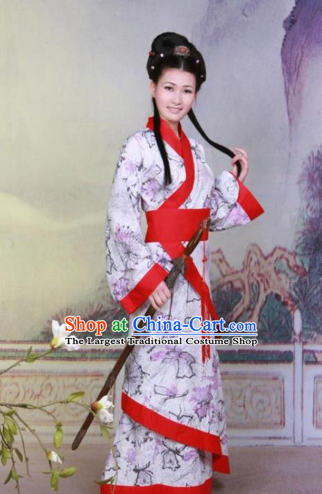 Chinese Ancient Piper Musician Costumes Han Dynasty Palace Princess Hanfu Dress for Women