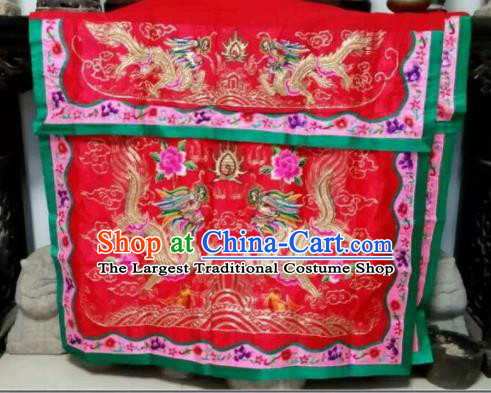Chinese Traditional National Accessories Ethnic Embroidered Dragons Antependium