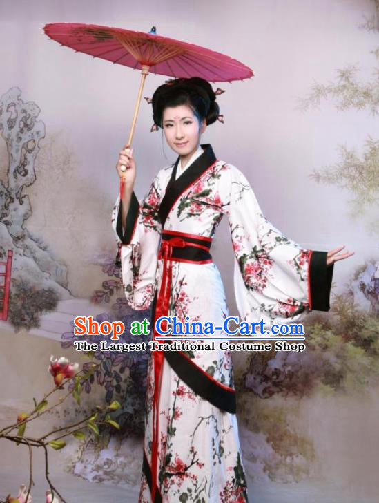 Chinese Ancient Palace Lady Costumes Han Dynasty Royal Princess Hanfu Dress for Women