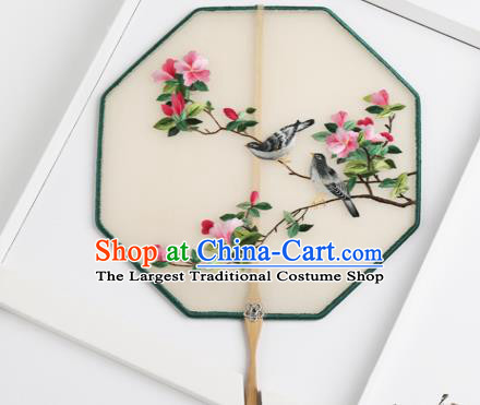 Traditional Chinese Crafts Palace Fans Silk Round Fans Ancient Princess Embroidered Fan for Women