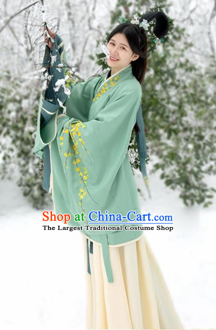 Chinese Ancient Drama Han Dynasty Princess Embroidered Costumes for Women