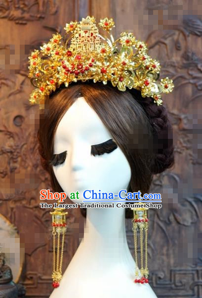 Chinese Ancient Hair Accessories Wedding Phoenix Coronet Palace Queen Hairpins for Women