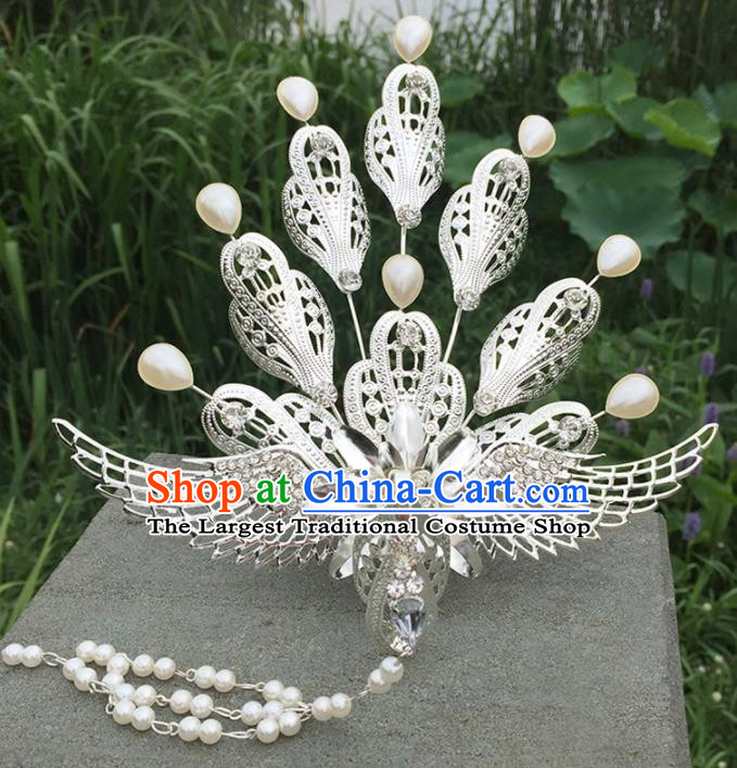 Chinese Ancient Tang Dynasty Princess Hair Accessories Pearls Phoenix Hairpins for Women