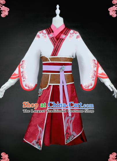 Chinese Traditional Cosplay Female Knight Costumes Ancient Swordswoman Clothing for Women